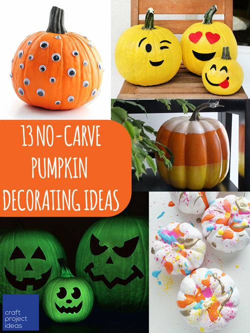 Looking for unique pumpkin decorating ideas? Felt Animal Pumpkins, like you  see above, are a fun way to use pumpkin stencils and have the little ones  help