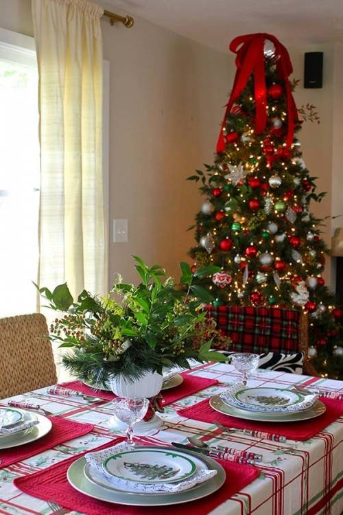 Christmas tablescape Christmas Dining Table  Decorations