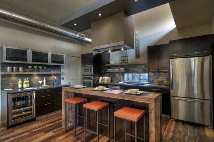 Luxury Industrial Kitchen Cabinet Home Wonderful Decoration Cool Design  With Cabinetry And Uk Style Metal Look