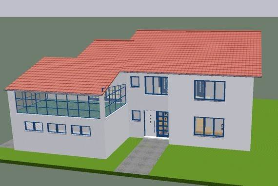Hyper detailing isometric view of the house