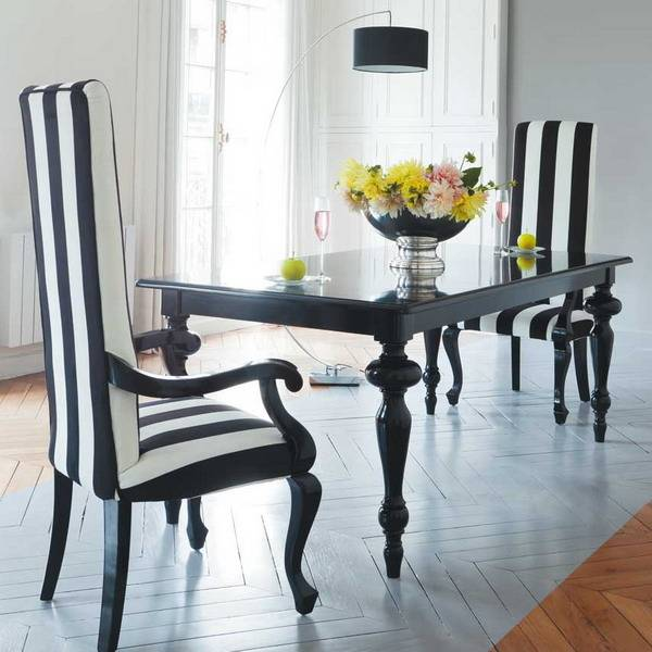 Full Size of Black And White Striped Dining Room Chairs Table Chair Modern  Furniture Inspirin