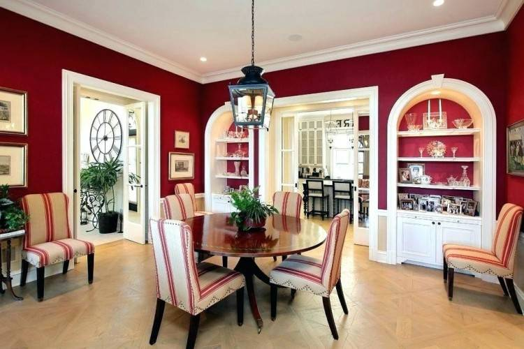 Burgundy Abode How To Create A Sensational Dining Room With Red Panache