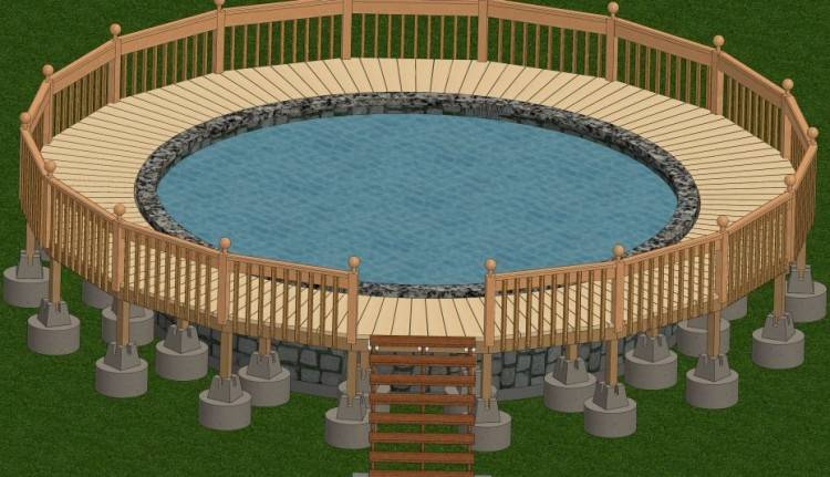 Inground Pool Deck Designs Backyard Design Ideas Resurfacing Build Over