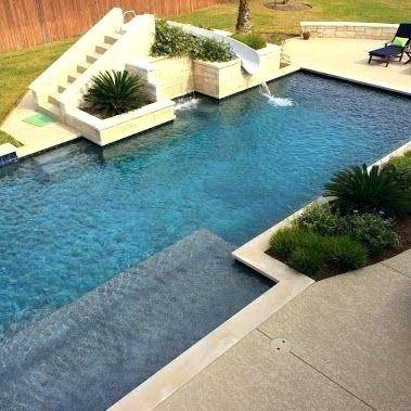 Awesome Swimming Pool Designs With Slides Photo 5