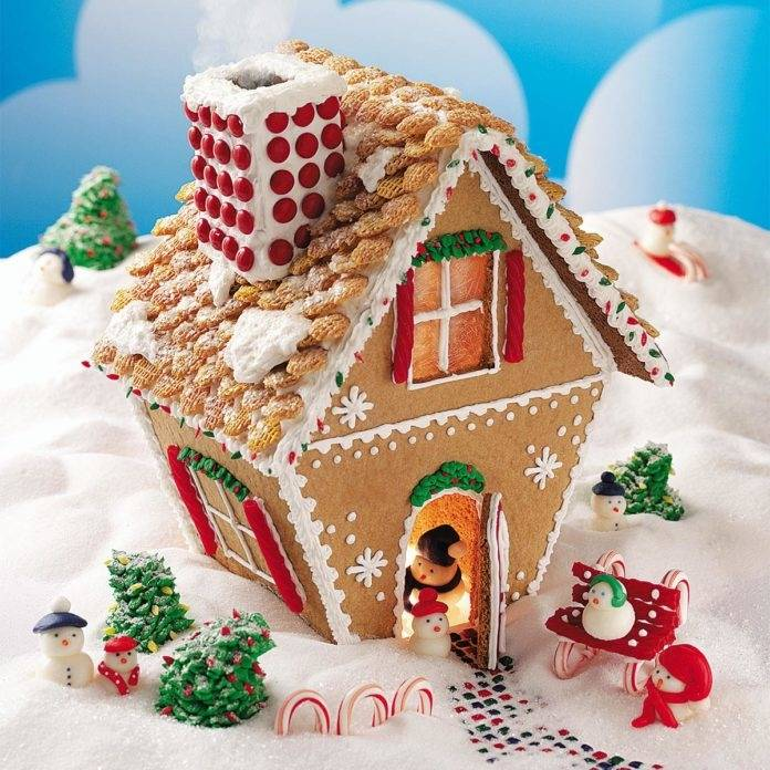 Colorful Candy Gingerbread House