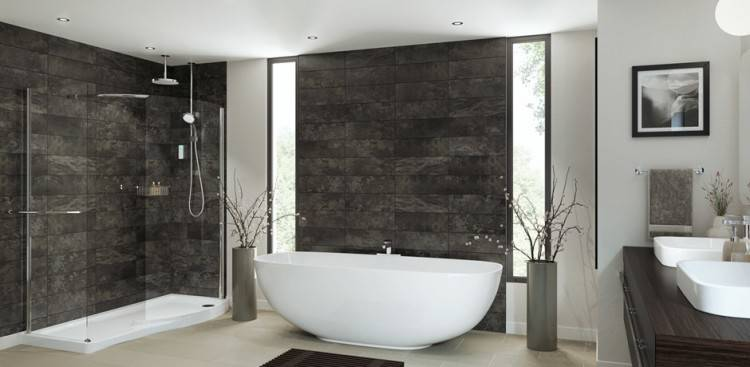And speaking of marble – the beauty of the freestanding tub is back with a  flourish