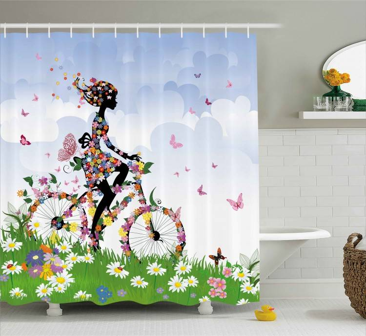 Floral Curtains Ceilings  homemade curtains clean shower