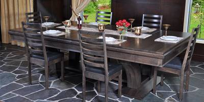 consider converting your entry console table into a petit bar or  buffet