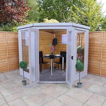 Full Size of Corner Summer House Shed Combo Build Wooden Cabins In With  World Of Sheds
