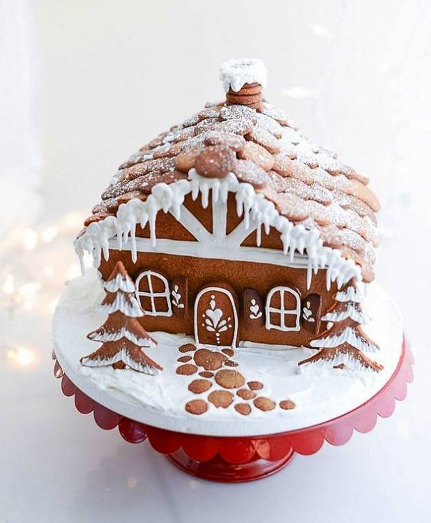 Create an adorable candy scene to go with your gingerbread house