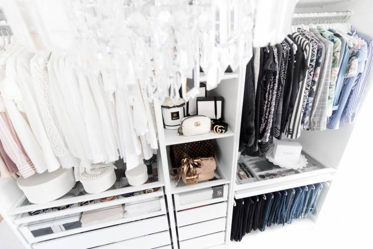 Start by removing current shelves or rods inside your closet so you've got a  blank canvas to begin