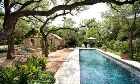 Small pool garden charms with its trendy, contemporary style [Design:  Jeffrey Erb Landscape