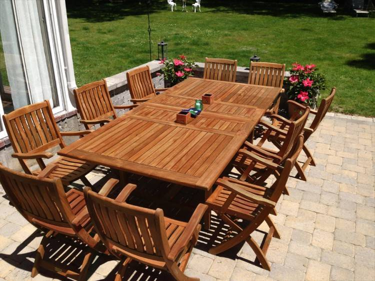 Teak Outdoor Furniture With The Interesting Design : Teak Outdoor  Furniture Care