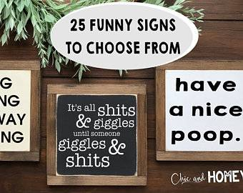 funny outdoor signs