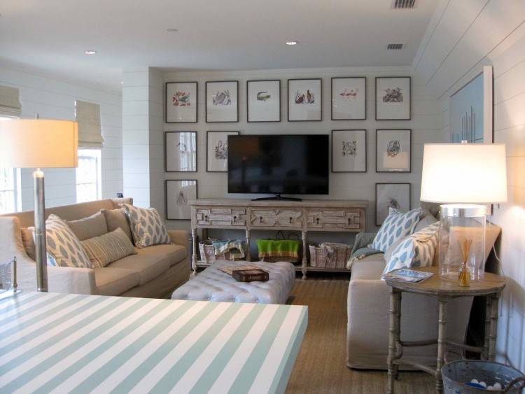 Full Size of Beach Themed Living Room Decor Inspired Decorating Ideas Wall  Modern With Nautical Style