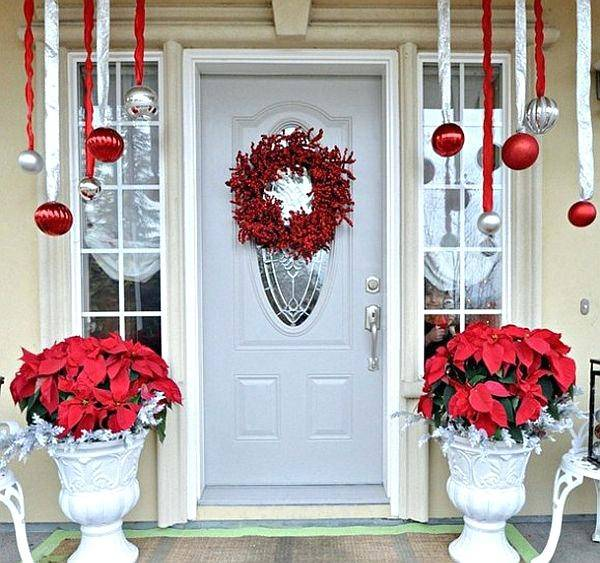 christmas decorations ideas awesome stairs decoration decorating outdoor  pots