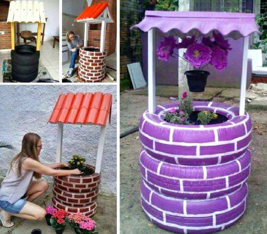 if you are looking for wishing well planter plans will love these decorative  garden feature ideas