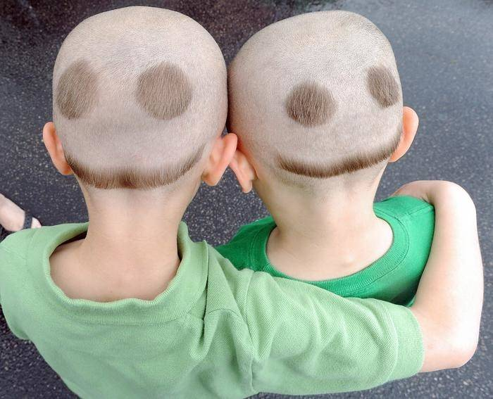 The hair from the back sides is trimmed and shaved to resemble the image of  a