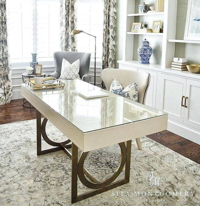 Photo of a stylish small desk in the living room