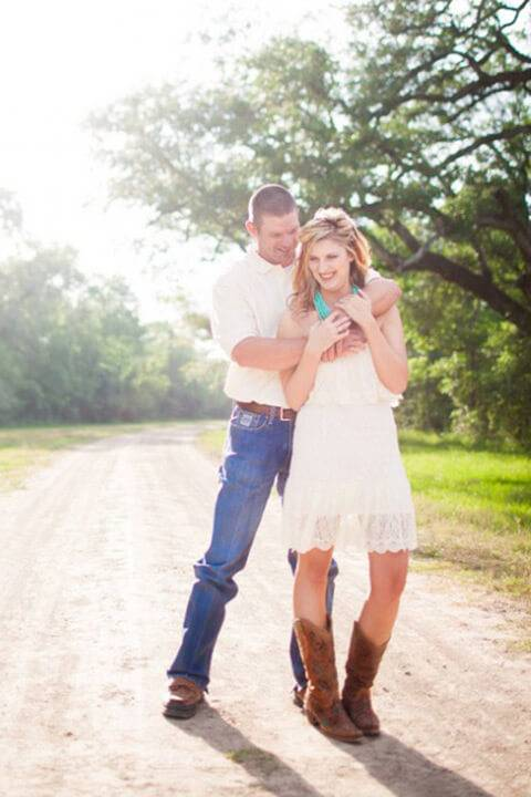 short to long wedding dresses lace dress with cowgirl boots