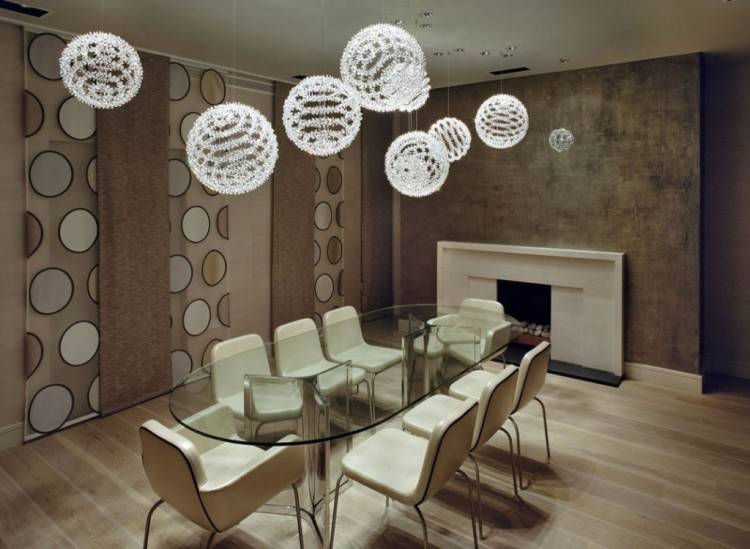 Peggy modern chandelier has a 60's feel that won't go unnoticed