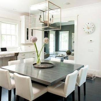 dining table in white stained solid birch, black · Chair