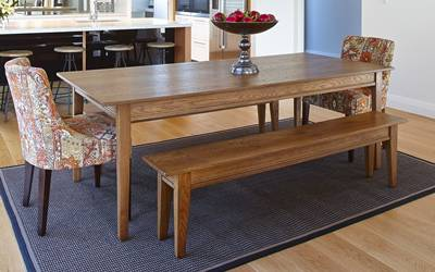 Felton 1500mm Dining Table with 4 Chairs (NZ Pine wood)