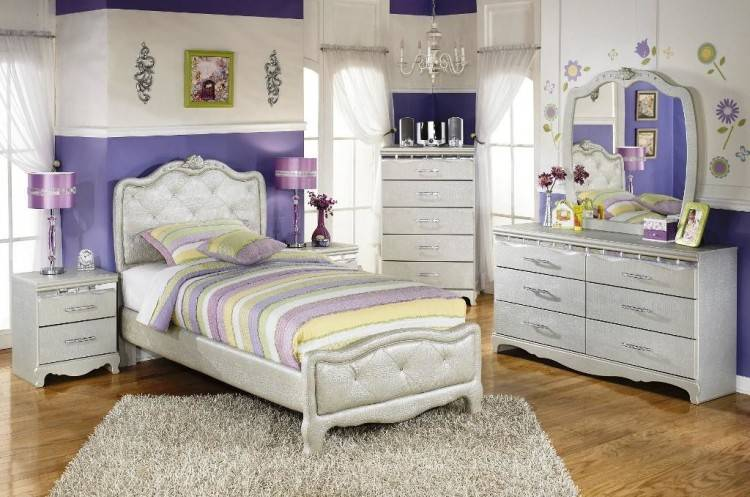 Großhandel Mdf Jugendprinzessin Girl Kids Bedroom Furniture Set Mit 3  Türiger Garderobe Nightstand Bookcase Flower Design Von Bridgesen, $437