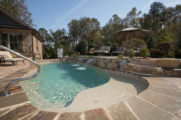 pleasant pools spas mustang ok outdoor swimming pool design vinyl gallery  supply corp city