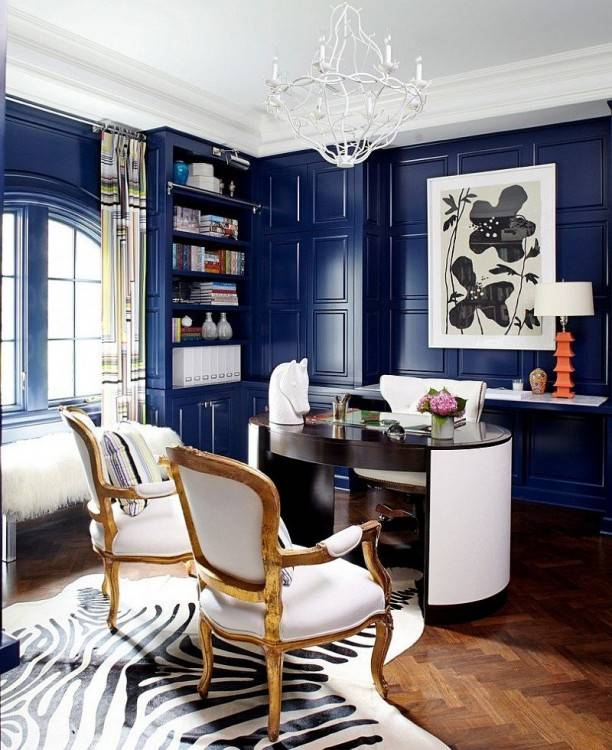 Design ideas for an eclectic home office in Austin