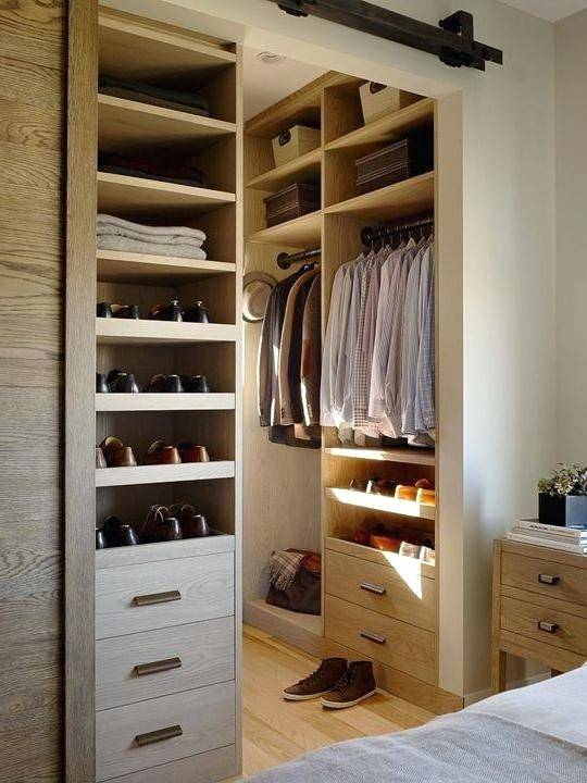 com DIY small walk in closet