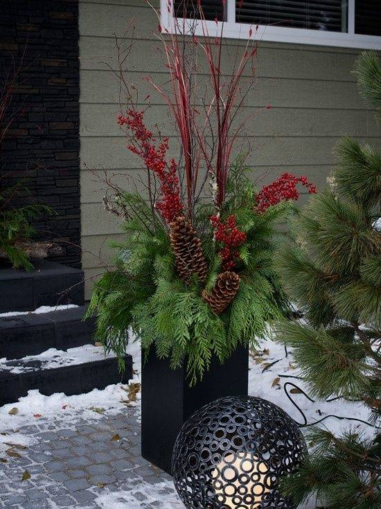 Best Outdoor Christmas Planters Ideas On Pinterest For Decorating  Flower Pots Images About Gnomes Felt
