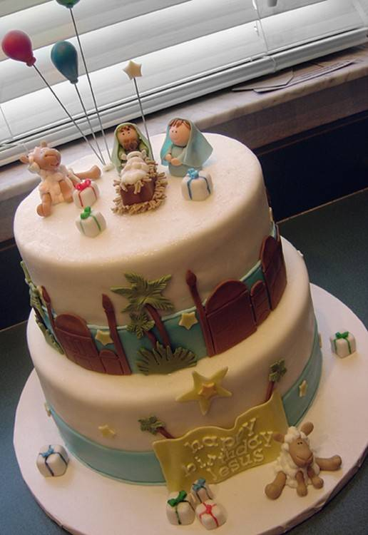 baby jesus birthday cake ideas
