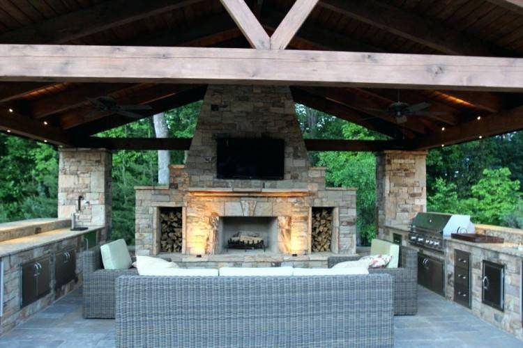 Outdoor Kitchen Fireplace Ideas Luxury Outdoor Kitchen And Fireplace