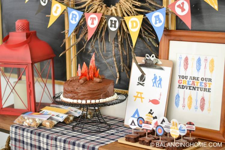 Great Ideas for a Camping Themed Birthday Party