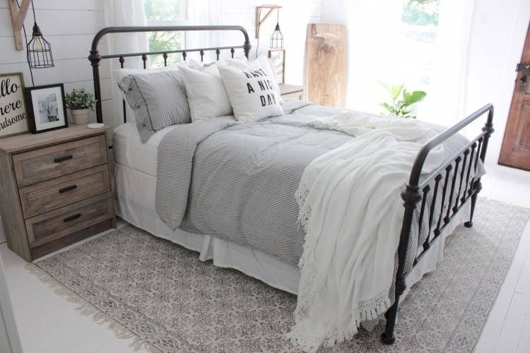country farmhouse bedroom decorating ideas rustic design