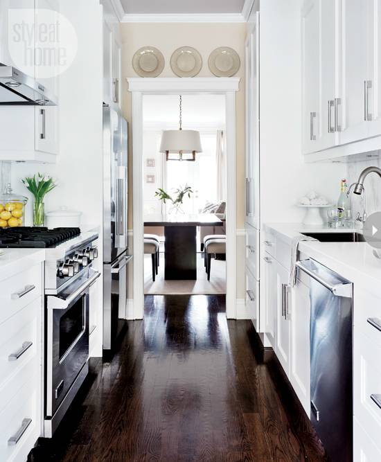 images of small galley kitchens small galley kitchen ideas domino more  images of small galley kitchens