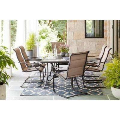 Desert Palm Collection seating with grey wicker base at thebay