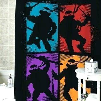 ninja turtle bathroom waterproof shower curtain bathroom curtain teenage  mutant ninja turtles friendly bath curtains welcome