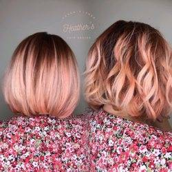 Malorie Avaline styles Christa Gray's hair at blo