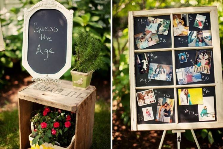 Sweets table from Rustic Outdoor Bridal Shower at Kara's Party Ideas