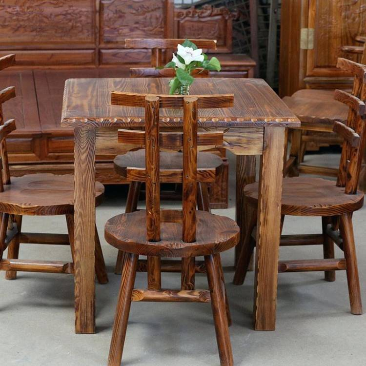 China Antique solid wood dining table for dining room furniture, pure  America style