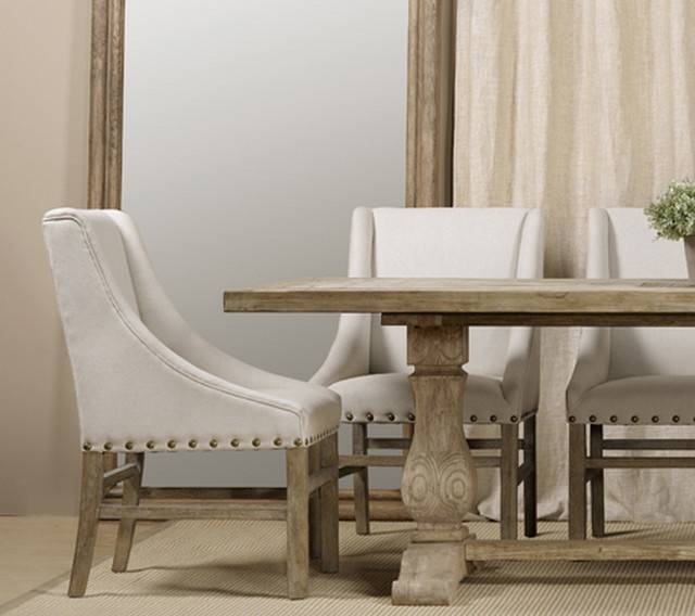 Nailhead Upholstered Chair | Fabric Arm & Side Chairs | Restoration  Hardware