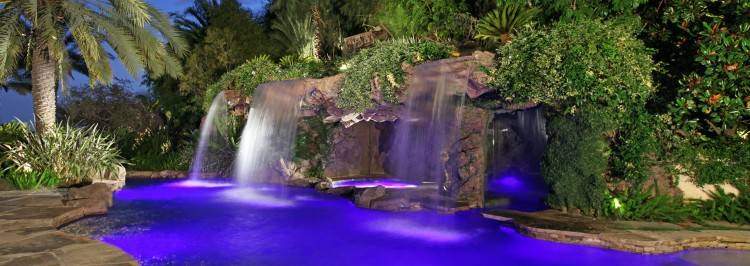 pools with waterfalls and slides and caves pool with slide waterfall grotto  cave by via pools