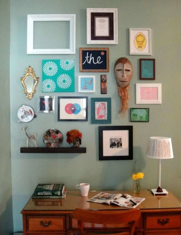 wall photo frame collage ideas decorate