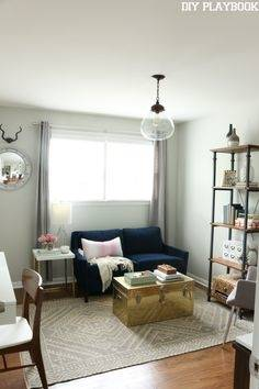 home office with couch