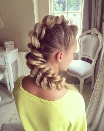 I learned how to create this braid by watching a video from Sweethearts  Hair Design on YouTube