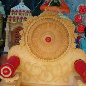 how to make a makhar/ singhasan for Ganesha at home | Best out of waste |  Artkala 275