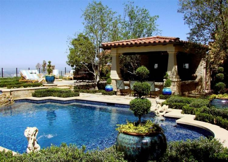 This swimming pool project was built in Orange County California