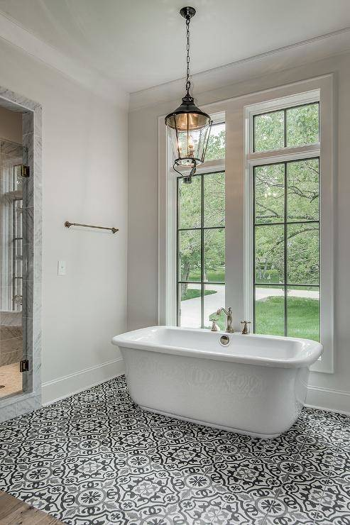 black and white tile patterns for bathroom small